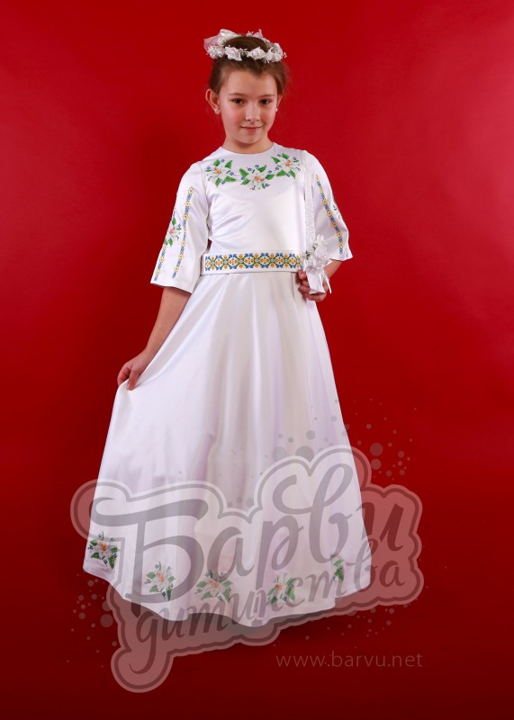 Плаття до першого причастя з вишивкою Львів aac98289e1a29